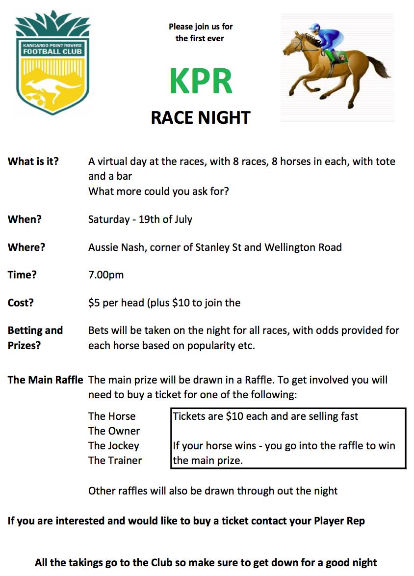 KPR Race Night