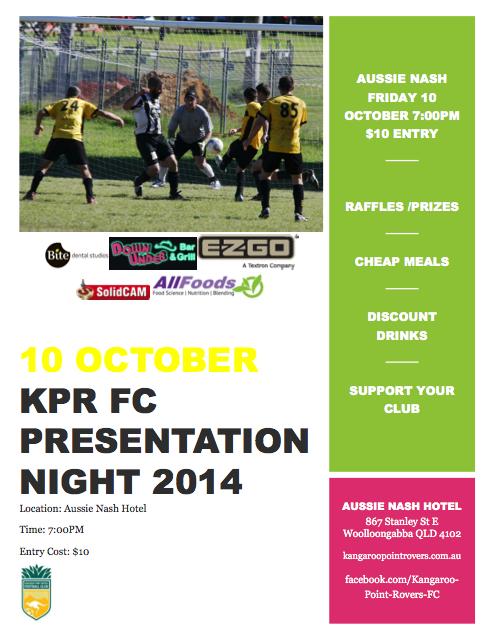 Presentation night flyer